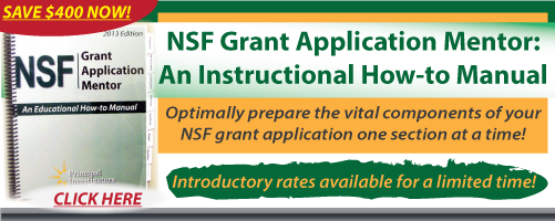 NSF Grant Application Mentor: An Educational How-to Manual — 2013 Edition